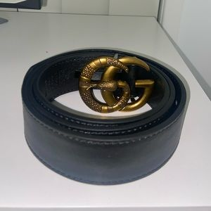 Gucci Double G Marmont Snake Buckle Belt